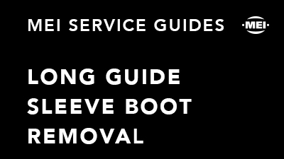 Long Guide Sleeve Boot Removal