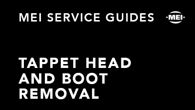 Tappet Head and Boot Removal